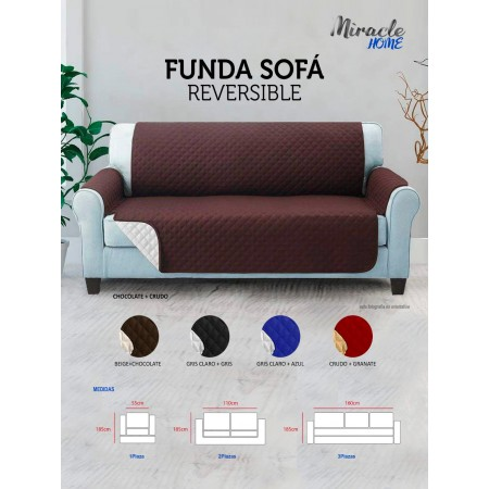 PROTECTOR SOFA REVERSIBLE MIRACLE HOME