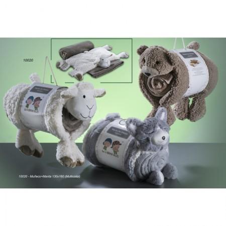 MANTA PELUCHE SHERPA 3D GAMBERRITOS